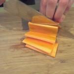 Stap 3: Snijd plakken van 3 mm